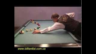 Трюковой бильярд   Александр Касьянов(Профессиональная игра на бильярдном столе.Trickshot от Александра Касьянова. http://billiardist.com.ua/, 2013-11-24T10:58:55.000Z)