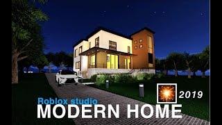MODERN HOME EXTERIOR COMPLETE!!! Roblox studio!