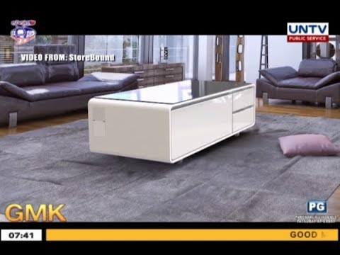 Sophisticated high-tech coffee table with built-in fridge & speakers| Techy  Muna