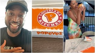 Dwyane Wade couldn't buy the new Popeyes sandwich & he can't believe they sent it to his home