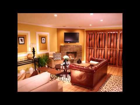 earth tone living room color ideas - YouTube