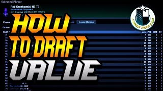 HOW TO DRAFT VALUE IN YOUR FANTASY FOOTBALL DRAFT!!! HOW TO WIN YOUR DRAFT!!!!