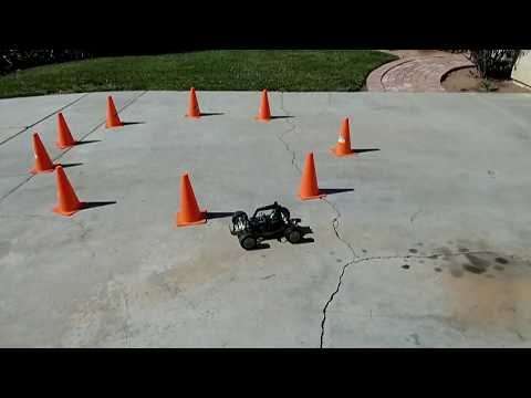 DonkeyCar Attempts the Orange Cones