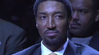 Scottie Pippen jersey retirement ceremony