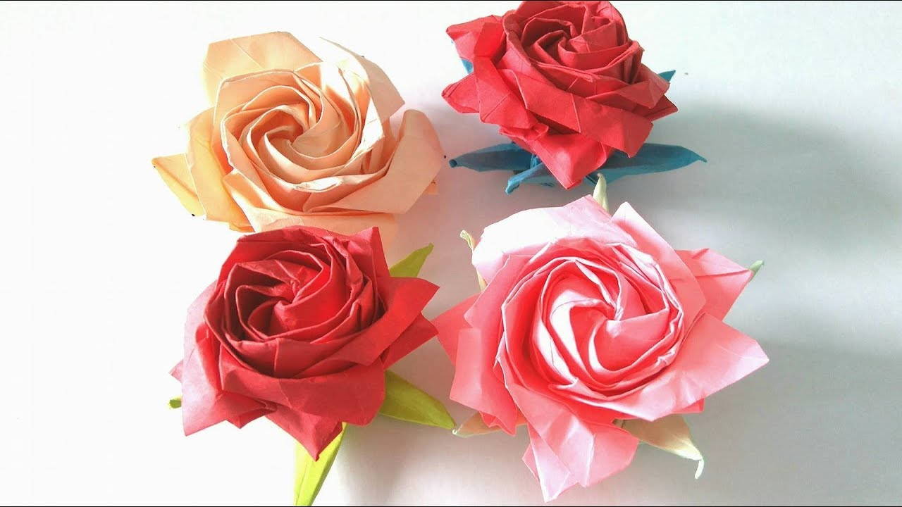 origami flower how to make an origami pentagon rose step