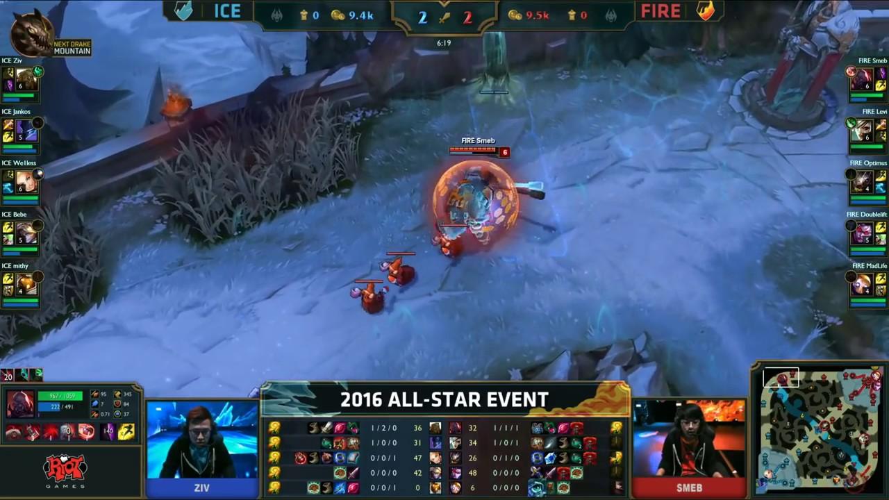 LMHT Feed - Ice vs Fire fun (troll) Show Match 1 - LoL All-Star 2016 Day 4