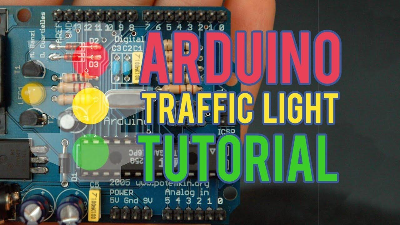 arduino programming for beginners traffic light controller project tutorial [ 1280 x 720 Pixel ]