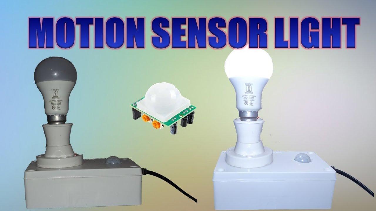 How To Make Motion Sensor Light Homemade - YouTube