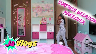SURPRISE BEDROOM MAKEOVER | Family Vlogs | JaVlogs