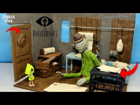 THE JANITOR (ROGER) and SIX - Part 1 - new Room Little Nightmares diorama by Dimia Clay |