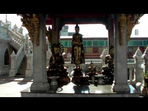 Marble and Gold - Wat Hua Lamphong, Bangkok; Thailand