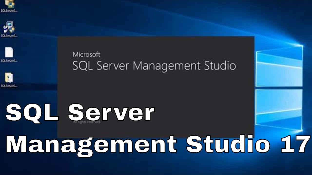 How to Install SQL Server Management Studio