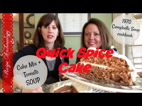 1970 Spice Cake with Campbell's Tomato Soup