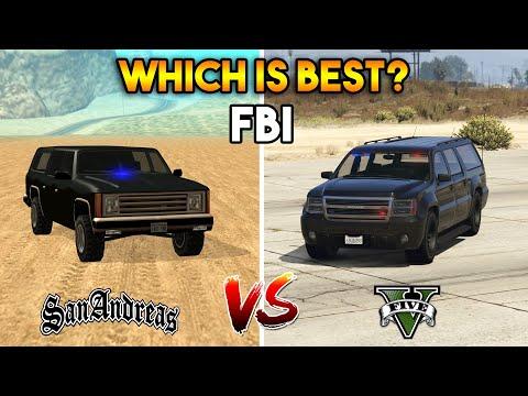 GTA 5 FBI VS GTA SAN ANDREAS FIB VEHICLE : WHICH IS BEST?