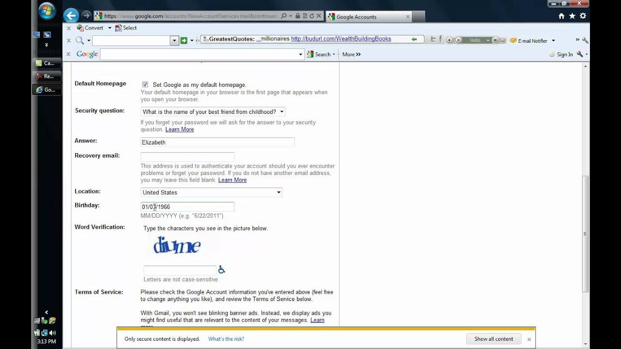 Create a gmail account English - YouTube