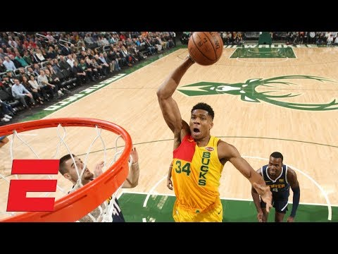 Giannis Antetokounmpo puts on a dunk show in Bucks' win vs. Nuggets | NBA Highlights