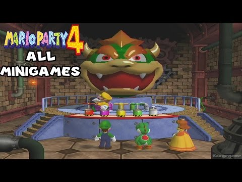 Mario Party 4 - All Minigames - 60 FPS HD