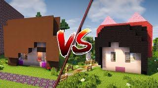 Casa da Julia Minegirl vs Casa da Luluca - MINECRAFT CASA VS CASA