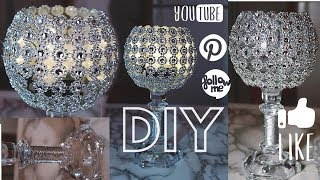 DIY CANDLEHOLDER CENTERPIECE–DOLLAR TREE/ manualidades/ decoration