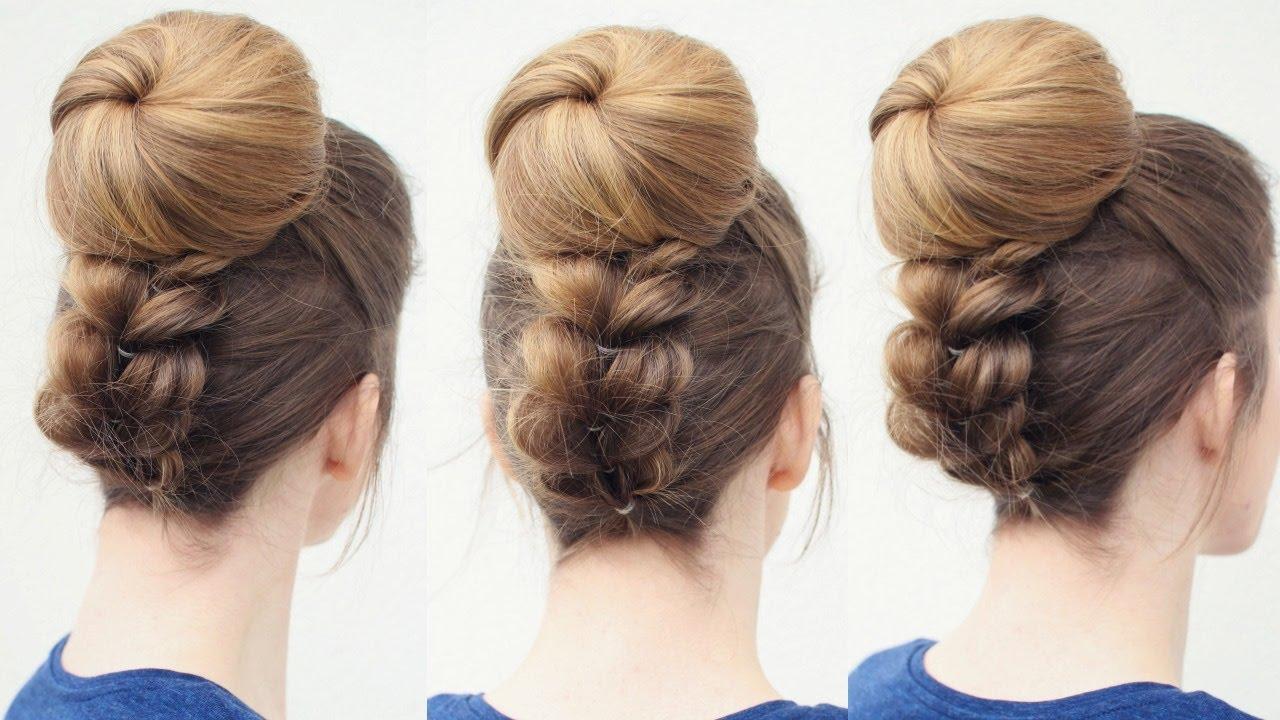 upside down ponytail bun style   bun hairstyles   braidsandstyles12