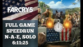 Far Cry 5 | Full Game Speedrun | World Record 4/02/2018 | 6:11:25 | Non Alternate Ending , Solo