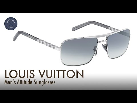 49fabc5687b4 Louis Vuitton Men s Attitude Sunglasses Quick Review - YouTube
