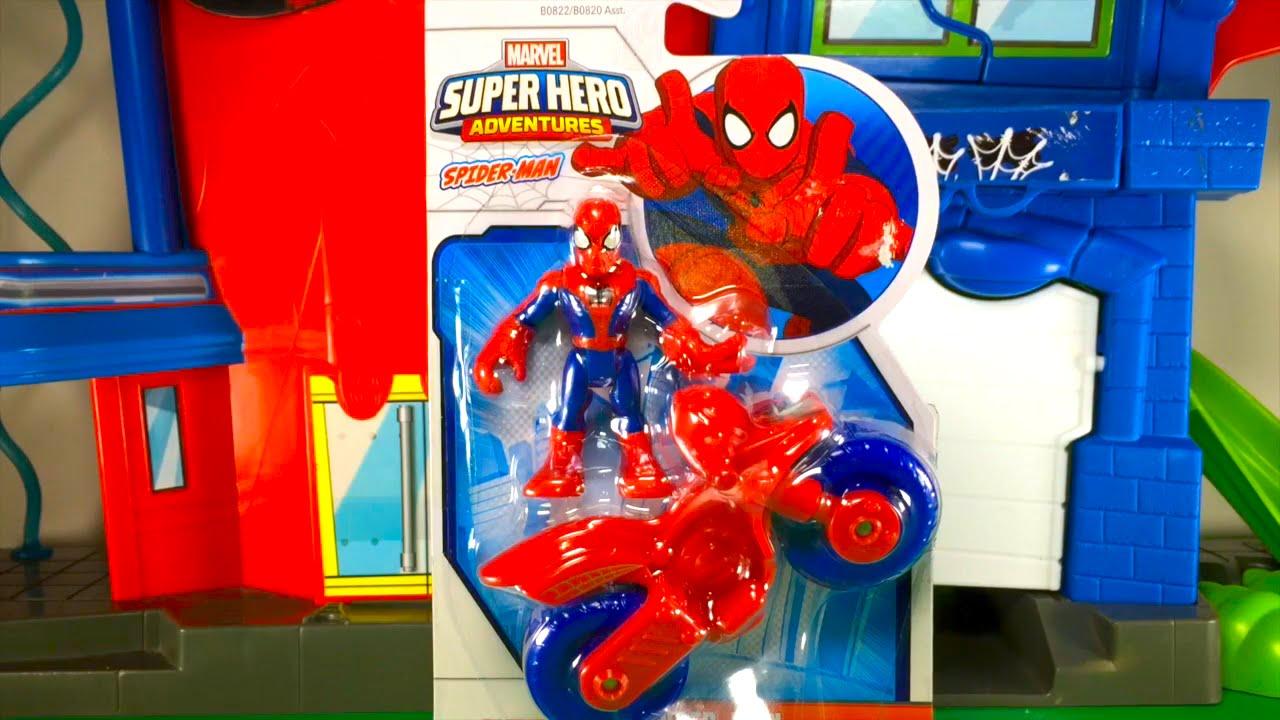 hombre araa en espaol el heroe de dibujos animados juguetes para nios pequeos youtube