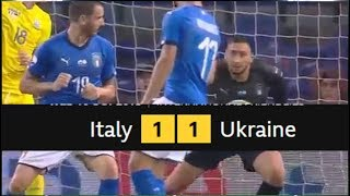 ITALY 1 - 1 UKRAINE FULL MATCH HIGHLIGHT