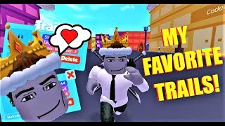3 OF MY FAVORITE TRAILS OF ALL TIME! in speed city (Roblox)