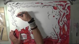 "St Vincent - Black Rainbow ""timelapse drawing"""