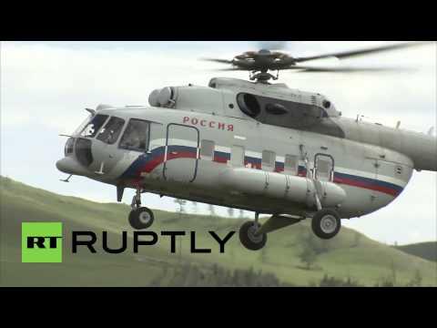 Russia: Putin takes chopper ride over Khakassia to inspect rebuilding work