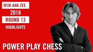 Wijk aan Zee/Tata Steel Chess Masters 2016 Round 13 Highlights