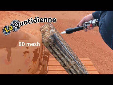 Démo Sablage Radiateur En Fonte Avec Sableuse Ro K Sab Youtube