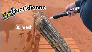 Démo sablage radiateur en fonte avec sableuse Ro-K-SAB