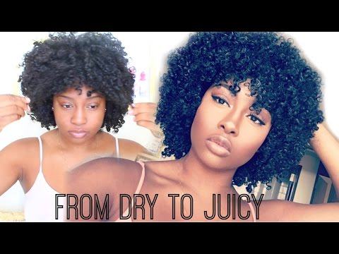 From Dry To Juicy - Refreshing My Slept On Wash N Go Using 2 Products