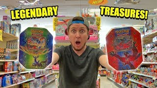 DISCOVERED LEGENDARY TREASURES packs w/ ULTRA RARE POKEMON CARDS at Kmart! Opening EX's
