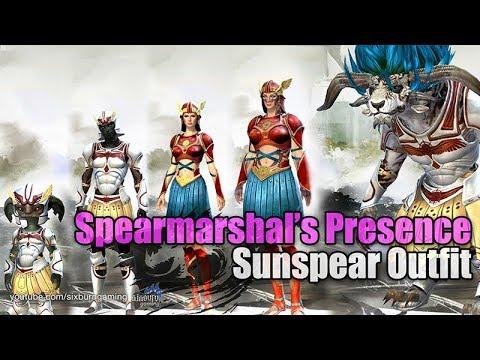 GW2PoF Spearmarshal's Presence, Sunspear Outfit