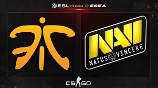 CS:GO - Fnatic vs. NaVi [Mirage] - ESL ESEA Pro League - Matchday 13