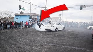 Spectators HIT By Cars & Get ARRESTED + FIGHTS - Car Meets GONE WRONG #24