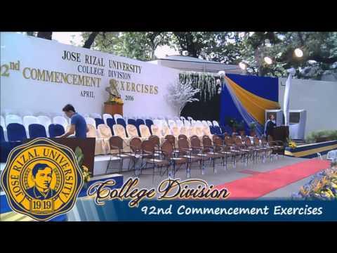 JRU Commencement Exercises