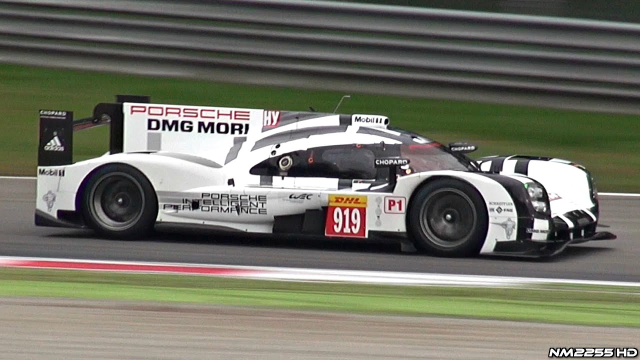 Porsche 919 Hybrid Lmp1 24h Le Mans Car Testing Track Pure Sounds