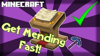 Fastest Way to Get MENDING Enchantment in Minecraft! 1.15.2
