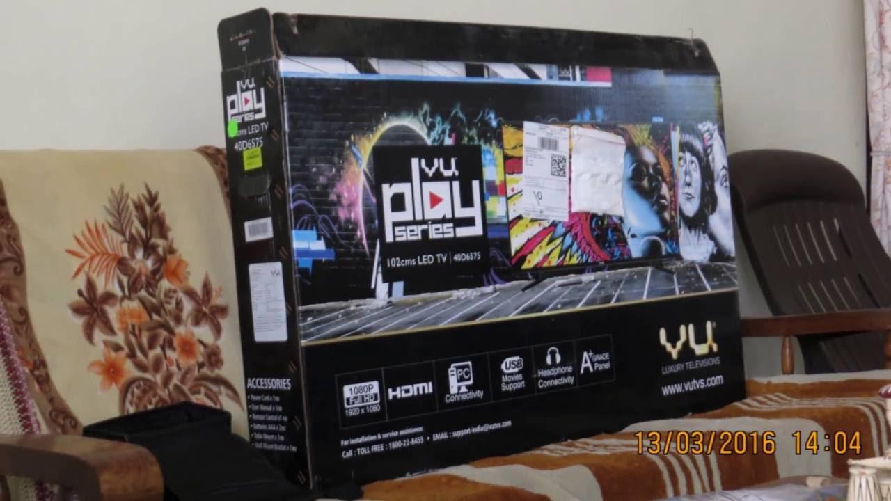 vu tv 102 cm 40 inch full hd led tv 40d6575 and chromecast unboxing and review setup flipkart. Black Bedroom Furniture Sets. Home Design Ideas