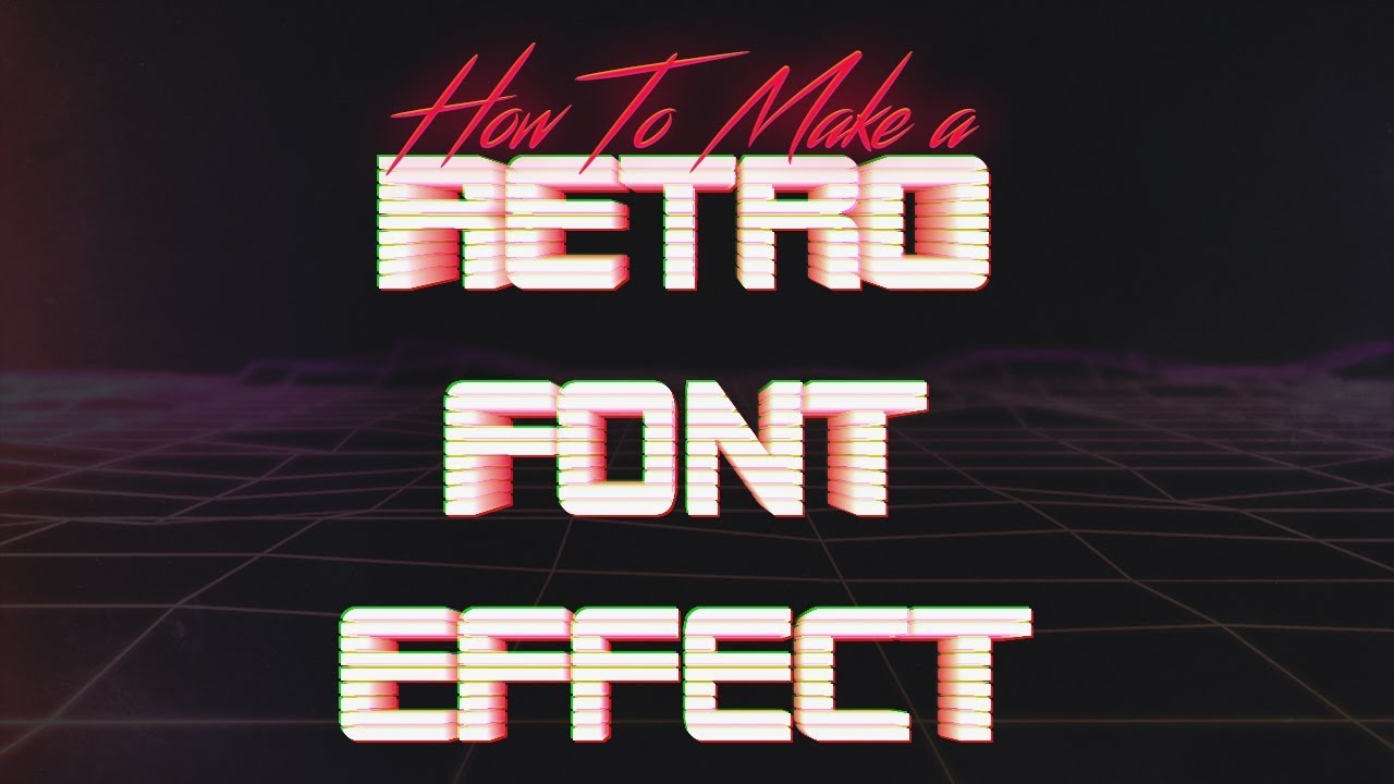 How To Create an 80's Style VHS/IBM Logo Text Effect in Photoshop &  Illustrator