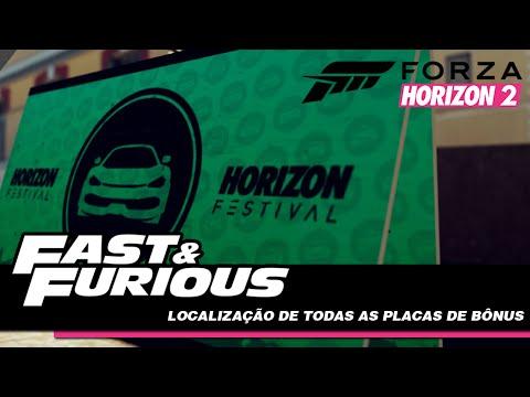 FORZA HORIZON 2: VELOZES E FURIOSOS LOCALIZAÇÃO DAS PLACAS DE BÔNUS