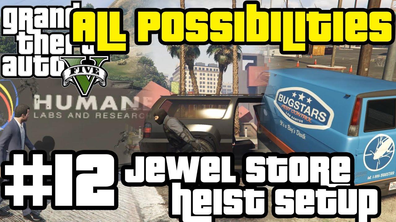 GTA V - ALL 3 Jewel Store Setup Missions (All Possibilities)