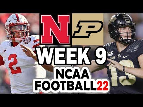 Purdue at Nebraska - 2021 Week 9 Simulation (NCAA Football 22)