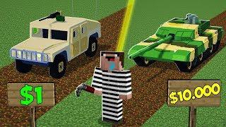 Дорогой или Дешевый Танк в Майнкрафт ! Что Купит Преступник? Неудачник Нуб в Minecraft Мультик!