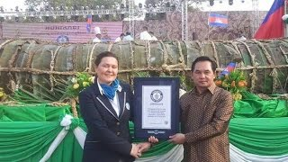 Guiness World Record 2015 - Cambodia Biggest Nom Ansom In The World អន្សមយក្ស