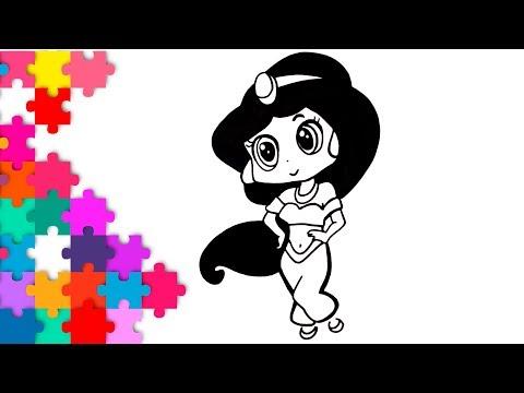 Como Dibujar A La Princesa Jazmin Kawaii How To Draw Disney